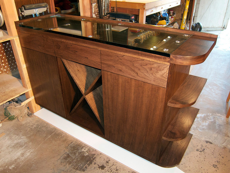Spench's handcrafted wooden bar