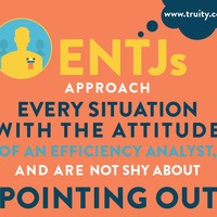 ENTJs approach every situation with the attitude of an efficiency analyst...