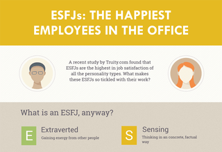 Infographic shows why ESFJs are the highest personality type in job satisfaction