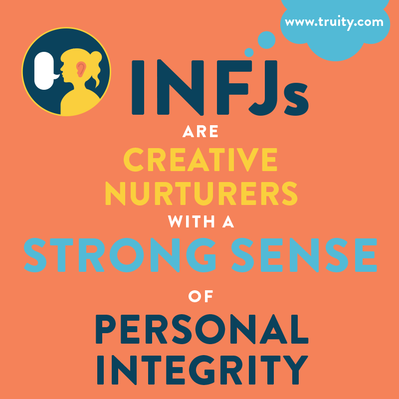 INFJs are creative nurturers with a strong sense of personal integrity...